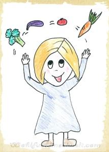 Edda mit Gemüse_w Ayurveda gesunde Ernährung wohlfuehlinselwelt